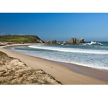 Camel Rock and surf beach Photographic Print