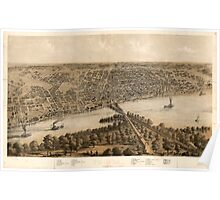 Panoramic Maps Peoria Illinois 1867 Poster