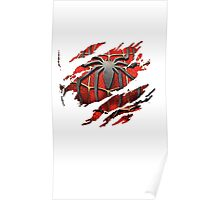 Spiderman Ripped Shirt Poster