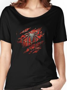 Spiderman Ripped Shirt Women's Relaxed Fit T-Shirt