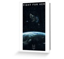 Fight for Her Greeting Card