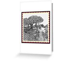 Camel In An Open Field  Greeting Card