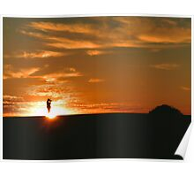 Lake Mungo Sandhills - Sunrise Poster