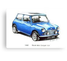 1990 Rover Mini Cooper Car Canvas Print