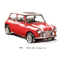 1990 Rover Mini Cooper Car Photographic Print