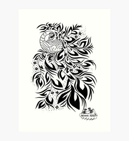 Peacock #4 Art Print