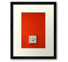 on and off Framed Print