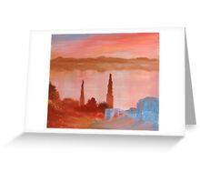 Belgrade Lake Sunset Greeting Card