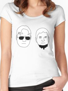 Dwight and Mose (Black on White) Women's Fitted Scoop T-Shirt