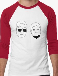 Dwight and Mose (Black on White) Men's Baseball ¾ T-Shirt