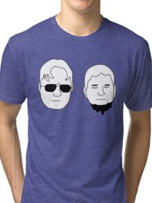 Dwight and Mose (Black on White) Tri-blend T-Shirt