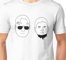 Dwight and Mose (Black on White) Unisex T-Shirt