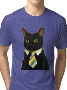 Business Cat Tri-blend T-Shirt