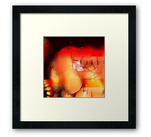 Gum Stitches Framed Print