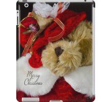 Christmas Red Teddy Bear iPad Case/Skin