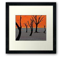 Dead Vlei Tree Skeletons Framed Print