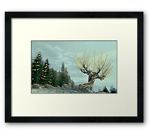 Whompy & Friends dressed for the Holidays Framed Print