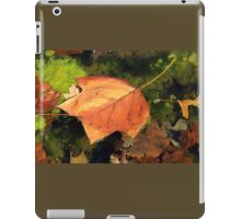 Fallen Maple Leaf in Pond iPad Case/Skin