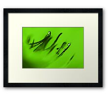 Water Droplets Abstract in Lime Green Framed Print