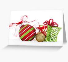 Christmas Ornaments Balls Gift Contemporary Greeting Card