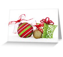 Christmas Ornaments Balls Gift Contemporary Greeting Card