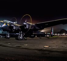 "Avro Lancaster B.VII NX611 G-ASXX ""Just Jane"" at Night by Colin Smedley"