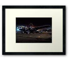 "Avro Lancaster B.VII NX611 G-ASXX ""Just Jane"" at Night Framed Print"