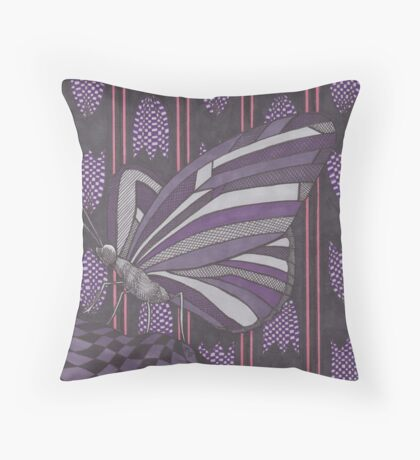 Hearts Under the Microscope Throw Pillow