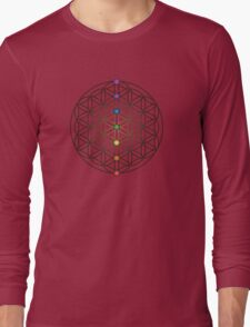 Flower of Life, Chakras Long Sleeve T-Shirt