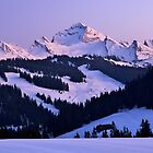 Winter dusk on Charvin mountain by Patrick Morand