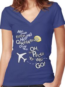 Seat Belts On Please Women's Fitted V-Neck T-Shirt