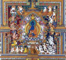 Blue Medicine Buddha Tibetan Art Reproduction Sticker