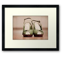 Silly Green Shoes Framed Print