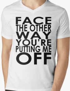 Face The Other Way Mens V-Neck T-Shirt