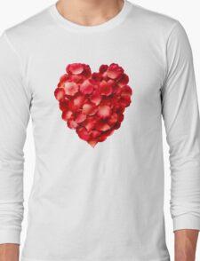 Rose Petal Heart Long Sleeve T-Shirt