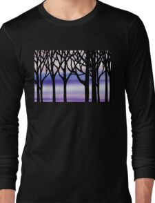 Abstract Forest Winter Blizzard  Long Sleeve T-Shirt
