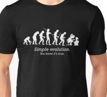 Evolution to Forever Alone Unisex T-Shirt