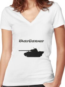 Wargamer - German Panther Mk V Women's Fitted V-Neck T-Shirt