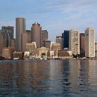 Boston's Waterfront Skyline  by John Gaffen