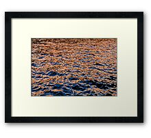 Color on the water Framed Print