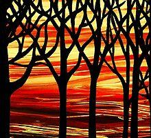 Abstract Forest Indian Summer by Irina Sztukowski