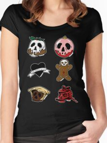 Alternative Christmas Pattern Women's Fitted Scoop T-Shirt