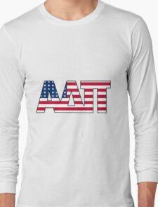 Alpha Delta Pi American Flag Long Sleeve T-Shirt