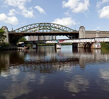 Boston University Bridge and Grand Junction Railroad Bridge  by John Gaffen
