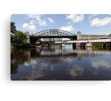 Boston University Bridge and Grand Junction Railroad Bridge  Canvas Print