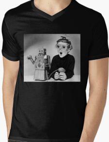Space Age Kid Mens V-Neck T-Shirt