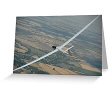 Glider soaring cross country. Greeting Card