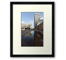 Government Center Plaza in downtown Boston  Framed Print