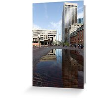 Government Center Plaza in downtown Boston  Greeting Card