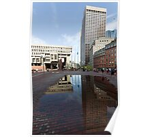 Government Center Plaza in downtown Boston  Poster